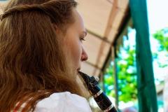 Hannah an der Klarinette